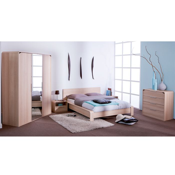 bor al lit adulte 140x190 ch ne blond achat vente structure de lit bor al lit adulte 140x190. Black Bedroom Furniture Sets. Home Design Ideas