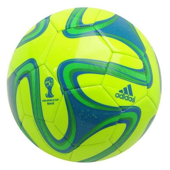 Ballon Brazuca Adidas Glider T5 Jaune et Vert Coupe Du Monde de Football Brésil