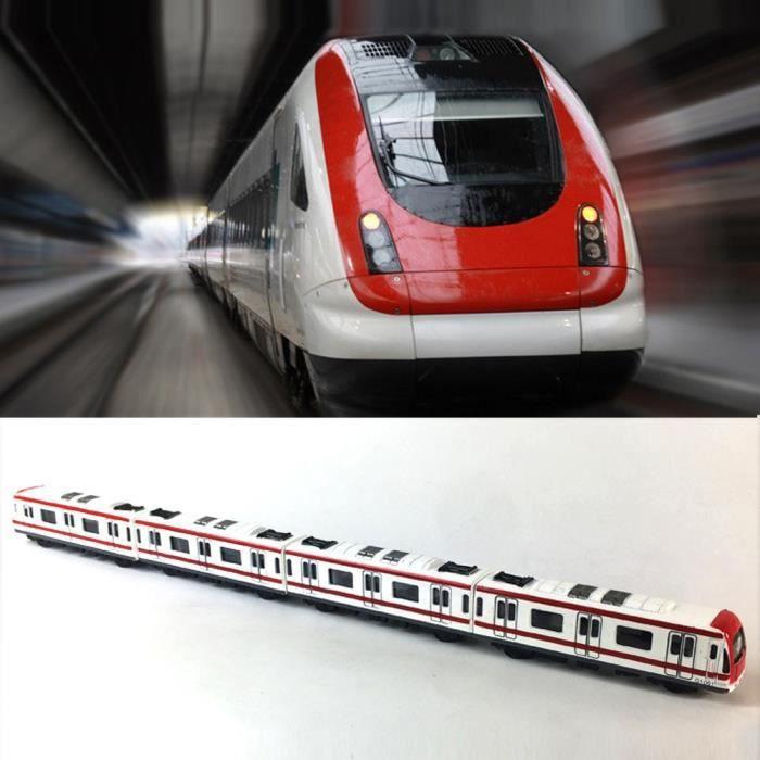 Voiture Electrique Trains miniatures, 4pcs Toy Car Set Ville alliage ferroviaire Métro modèle, 1-64 échelle alliage Métro - Mode voi