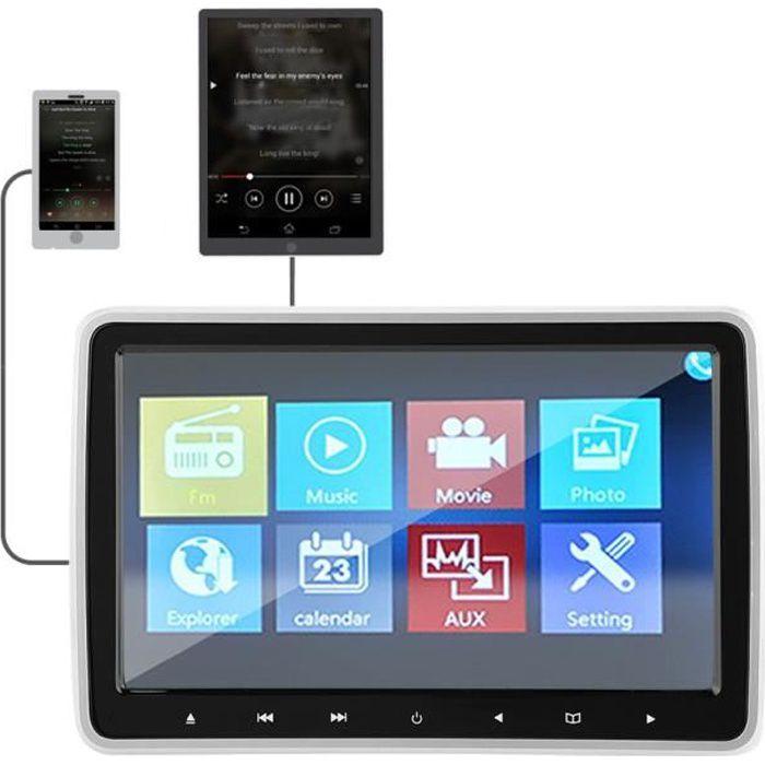 DVD moniteur lecteur de voiture appui-tête numérique portable 10.1in TFT HD
