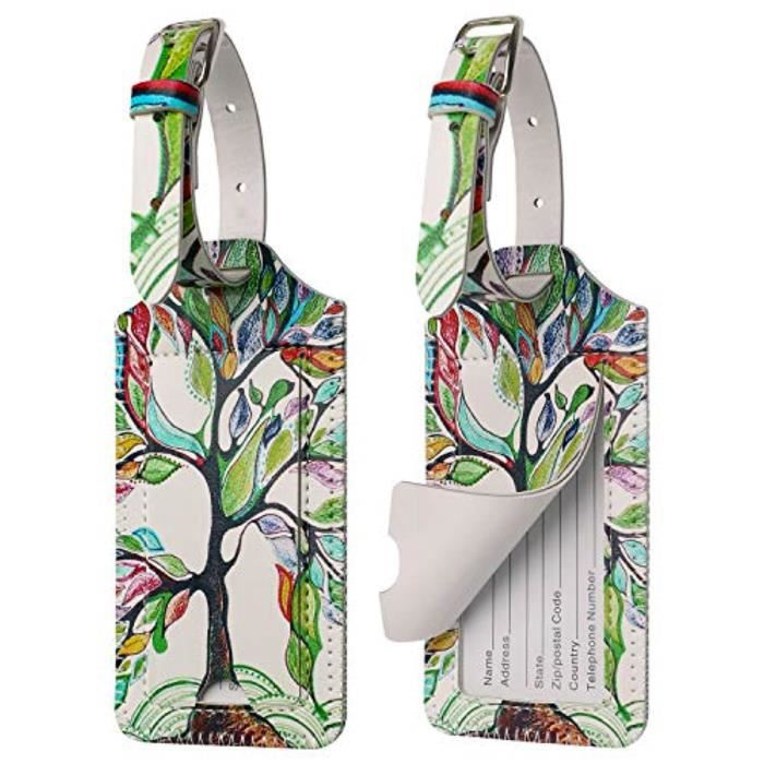 Bracelet De Montre Vendu Seul FWKWJ Étiquette de bagage avec Strap- Sac initial Tag en cuir PU Etiquettes de bagages Valise Etiquett