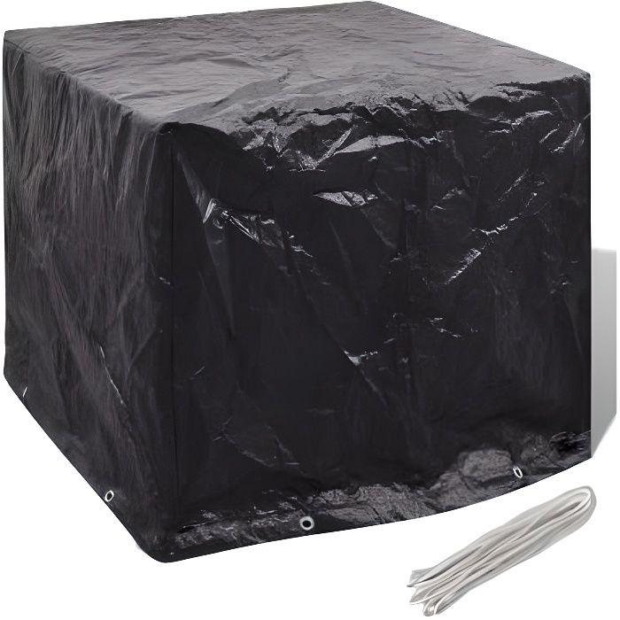 116 x 100 x 120 cm Housse de réservoir d'eau Protection Couverture Outdoor réservoir d'eau Cover Noir HB41644212 -YAP
