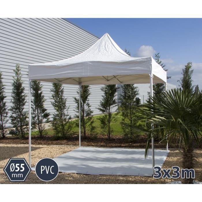 TENTE BARNUM PLIANT ALU 3X3 BLANC PRO+ 55 PVC 550G