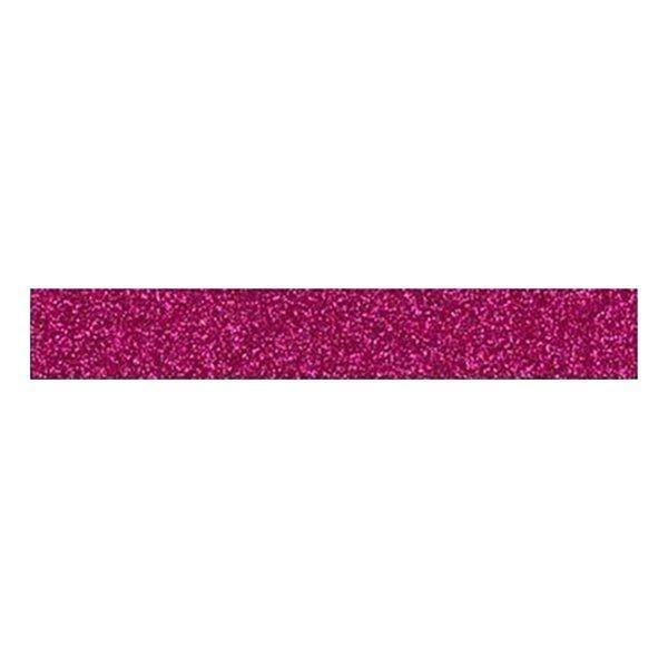 OH ! GLITTER Rouleau de Glitter Tape 1,5 cm x 2 m - FRAMBOISE