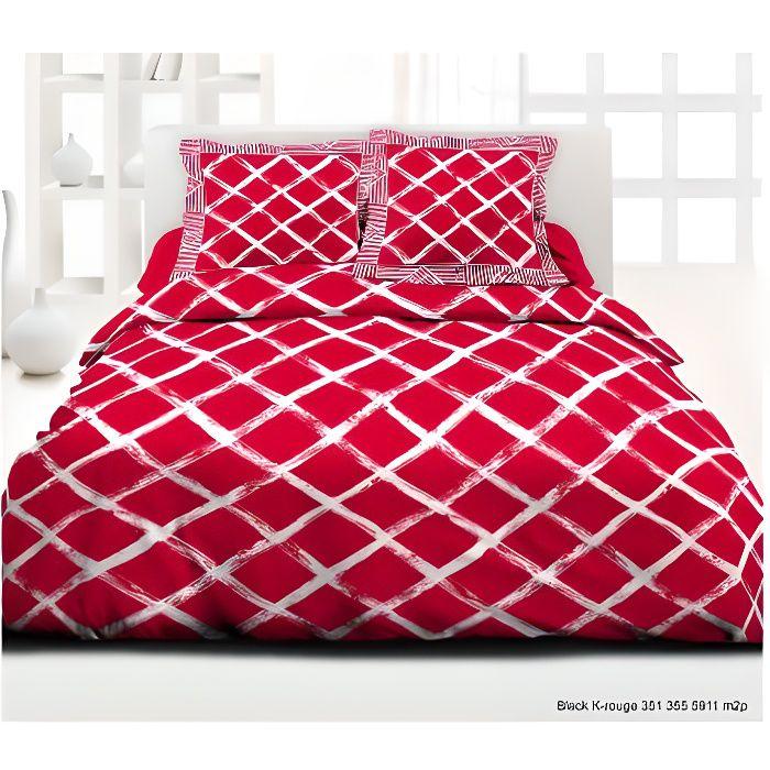 Pack complet Red Kro housse de couette pour lit 140 x 190 cm 100% coton / 57 fils/cm²
