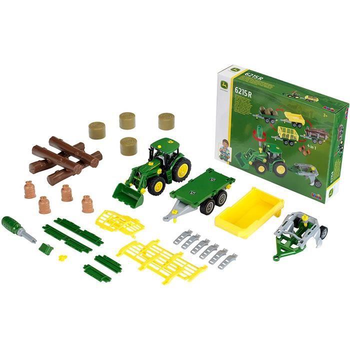Klein - 3907 - Tracteur &agrave monter John Deere et son mat&eacuteriel agricole[48]