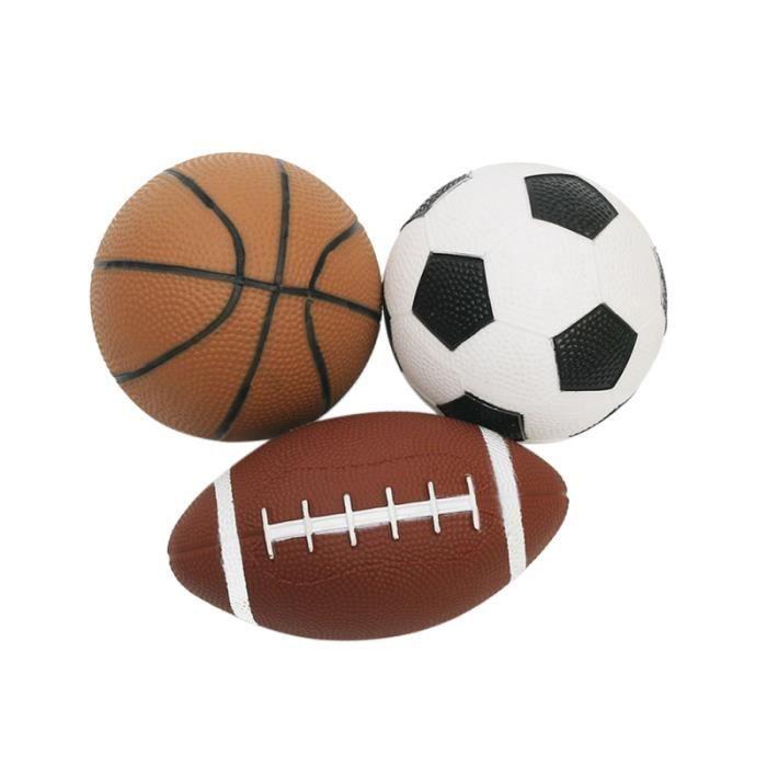 3 pièces douces non toxiques sans odeur mini balles de sport souples basket-ball ballons de rugby football VOLANT DE BADMINTON