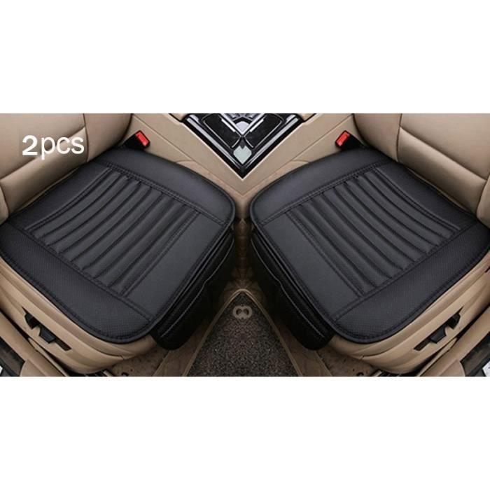 Housses de siège de voiture universelles en cuir, couvre siège avant et arrière, couvre siège pour véh Front Black line 2pc