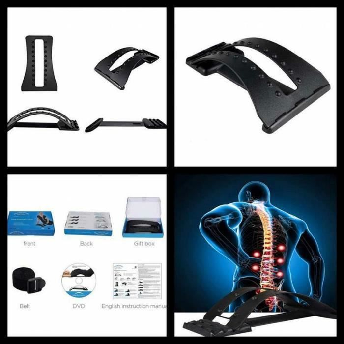 PRO II WELLBEING Étirement de dos Multi-niveau, multi-lvel back streching device
