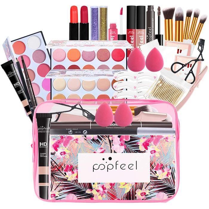 COFFRET DE MAQUILLAGE LEAMALLS 21 Pcs Palettes de Maquillage Professionnel Malette Maquillage Palette Coffret Paupi&egravere 737
