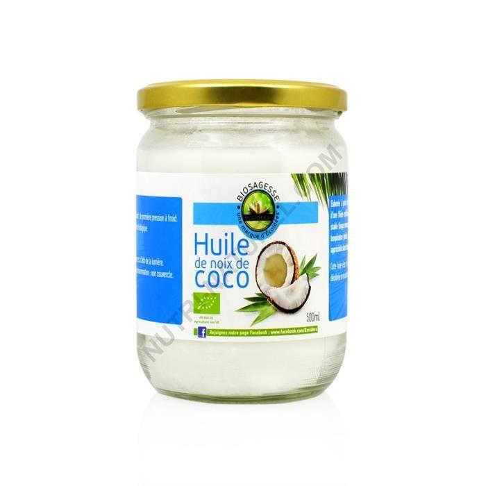 Huile de coco vierge bio 500ml Ecoidées