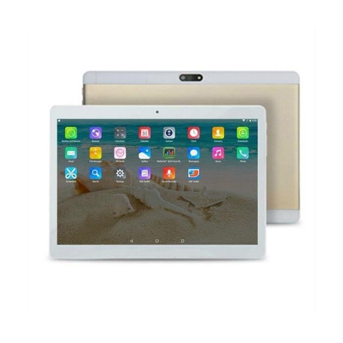 10,1 pouces Tablet PC Dual Sim Phone Pad Tablet PC phablet avec EU Plug (2 d'or + 32)
