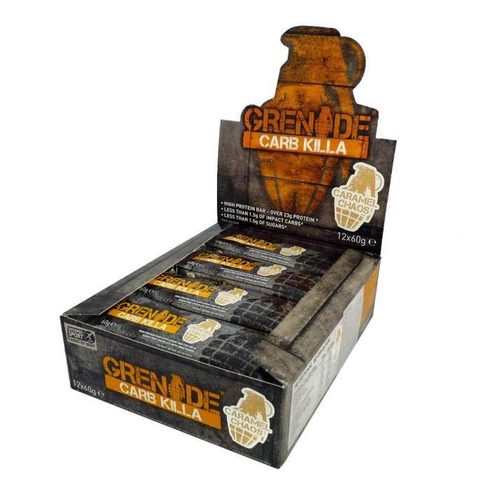 12 x Carb Killa Bar 60 g (Biscuits et crème)