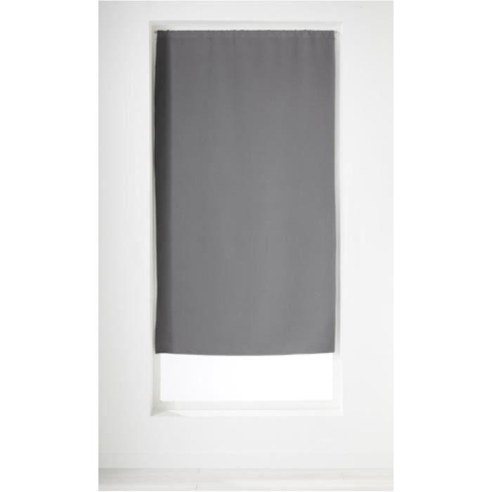 Petit Rideau Uni Obscurcissant Anthracite 65 x 160 cm
