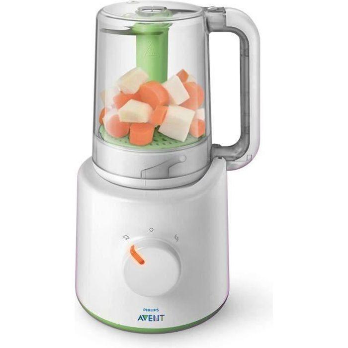 Philips AVENT Robot cuiseur-mixeur 2-en-1 pour bébé SCF870-20, Mélangeur de table, 0,45 L, Vert, Blanc, 0,7 m, Class 1, Turquie