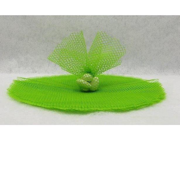 Rond tulle filet vert pour dragée (x10) REF/RDU155