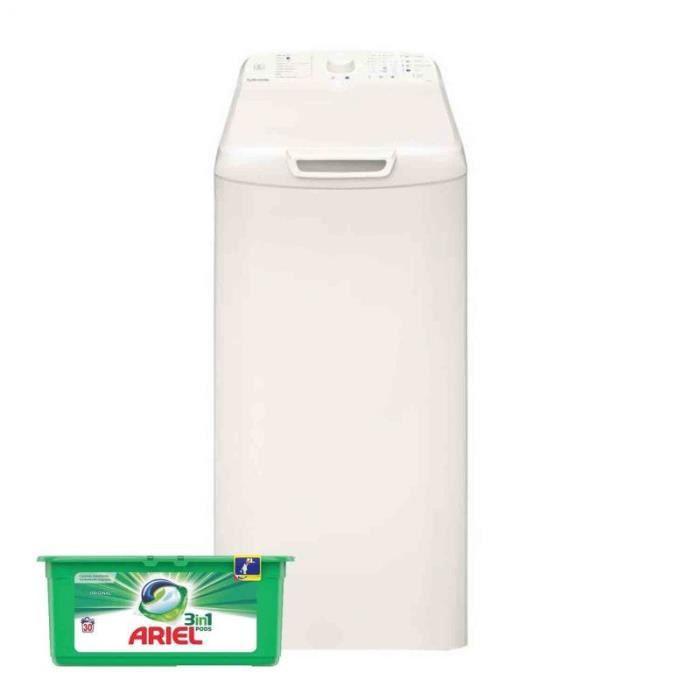 VEDETTE Lave-linge top 6kg 1200trs/min Tambour 42L Départ Différé Machine à laver 60 Blanc