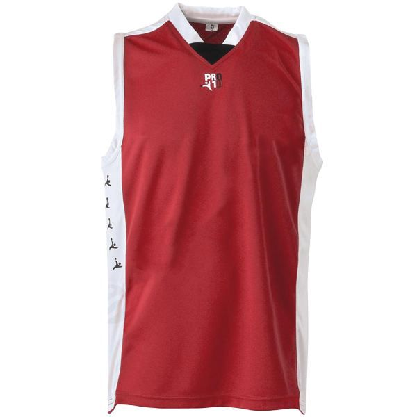 Maillot basketball pour homme taille medium rouge
