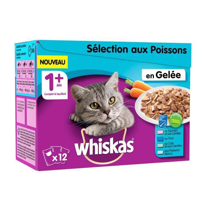Gelée aux poisson pour chats 12x100 g Whiskas