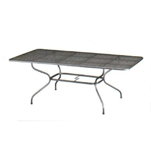 Table en m tal 160 x 90 cm advantage achat vente table - Table de jardin metal ...