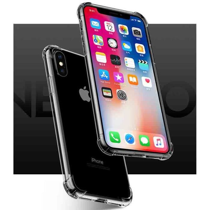 coque transparente iphone x anti choc