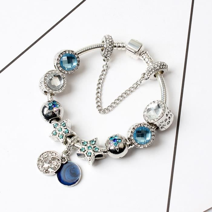 18CM Bracelet Charmes de Bijoux Argent Sterling 92