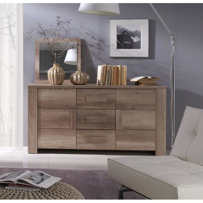 buffet bahut enfilade moyen mod le ferrara 2 portes 3 tiroirs meuble design et tendance pour. Black Bedroom Furniture Sets. Home Design Ideas