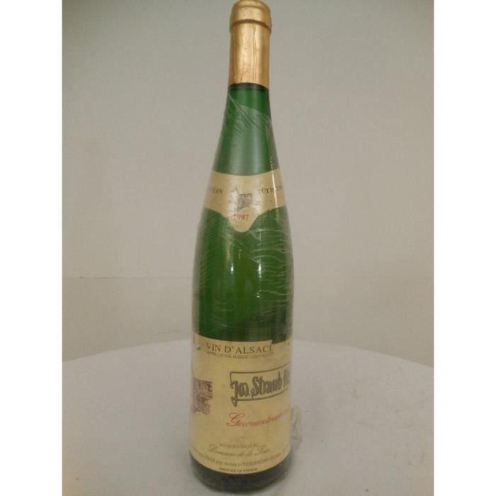 VIN BLANC gewurztraminer straub fils fût blanc 1997 - alsace