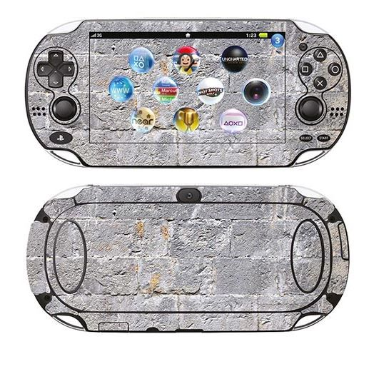 skin stickers pour sony ps vita sticker vieux mur achat vente sticker skin console. Black Bedroom Furniture Sets. Home Design Ideas