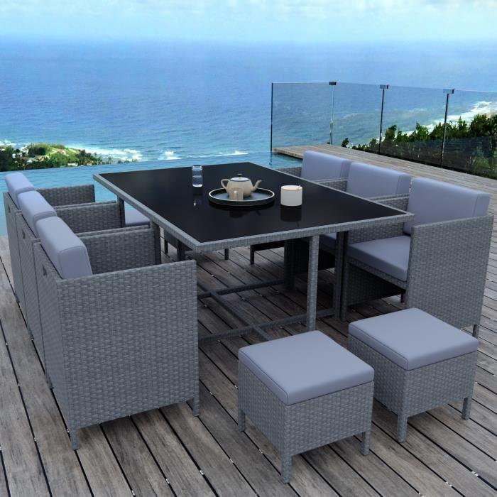 Munga 10 Places Ensemble Encastrable Salon Table De Jardin