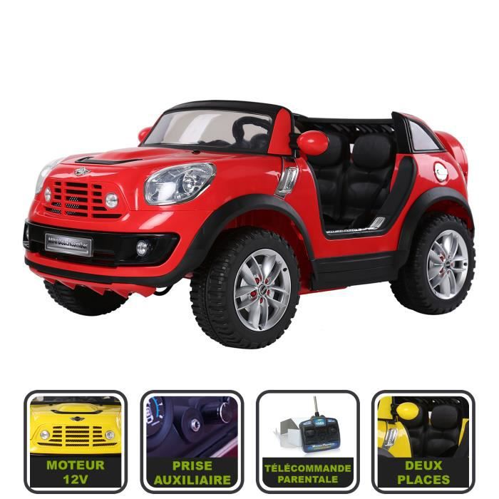 voiture lectrique enfant 12v mini cooper beachcomber avec. Black Bedroom Furniture Sets. Home Design Ideas