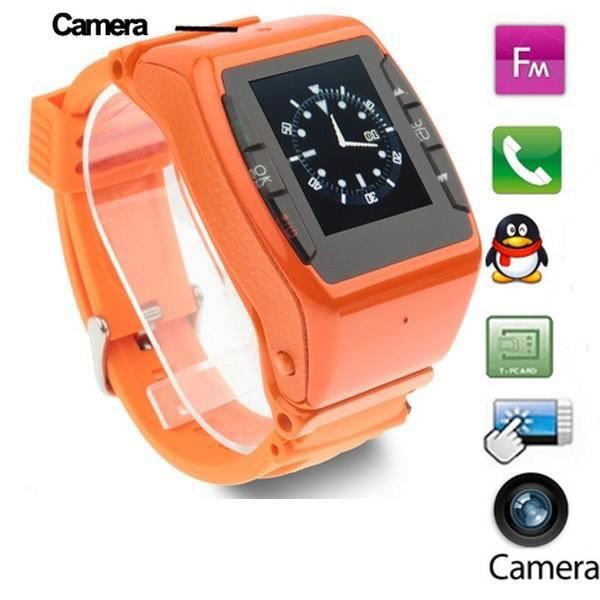 montre t l phone portable orange tactile cam ra achat vente montre connect e montre. Black Bedroom Furniture Sets. Home Design Ideas