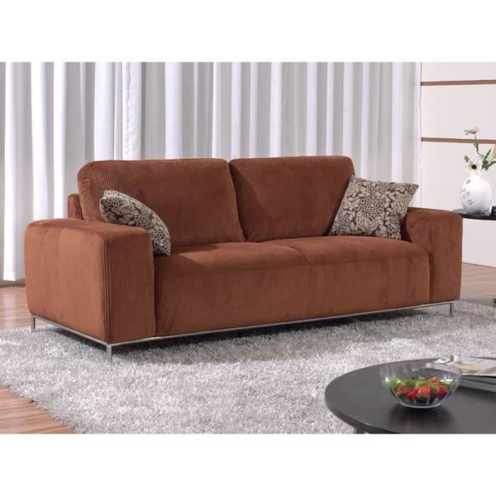 canap fixe tissu dylan couleur caramel 3 p achat vente canap sofa divan cdiscount. Black Bedroom Furniture Sets. Home Design Ideas