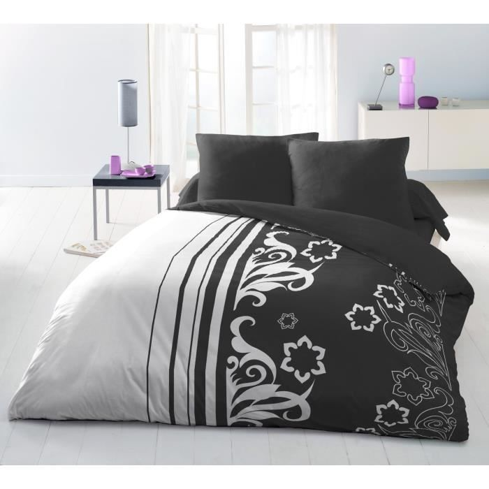 arabesque parure de couette microfibre 100 polyester 1 housse de couette 220x240cm 2 taies. Black Bedroom Furniture Sets. Home Design Ideas