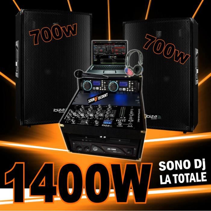 sono compl te avec 2 enceintes 700w ampli 1000w double. Black Bedroom Furniture Sets. Home Design Ideas