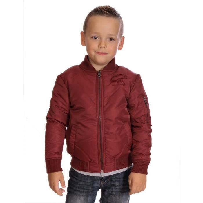 redskins enfant blouson bomber farel grenat gar on hiver. Black Bedroom Furniture Sets. Home Design Ideas