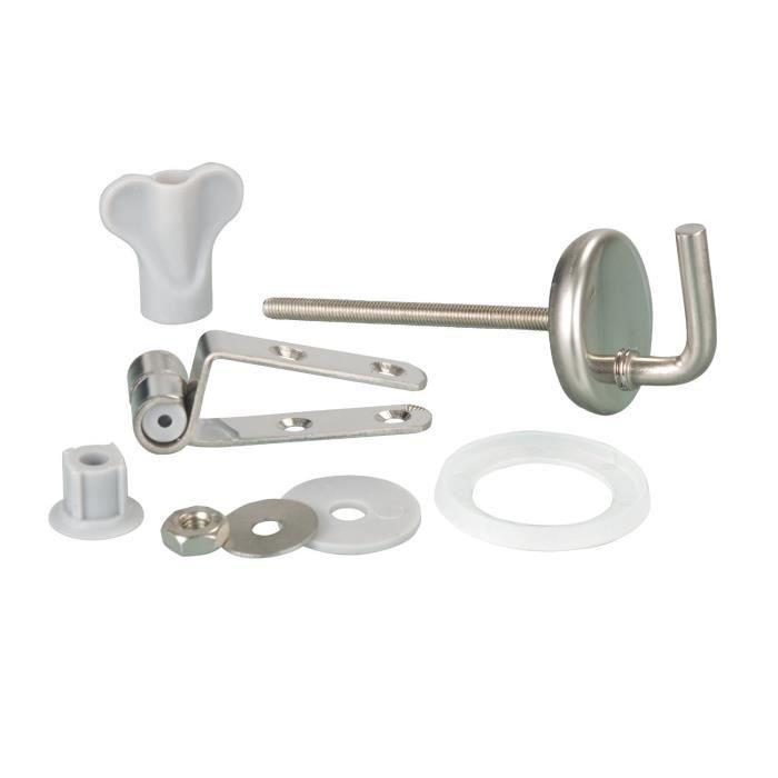 65021 2 Abattant WC Fixation I Set I Charni/ères I en acier inoxydable/ /M/étal Plastique I
