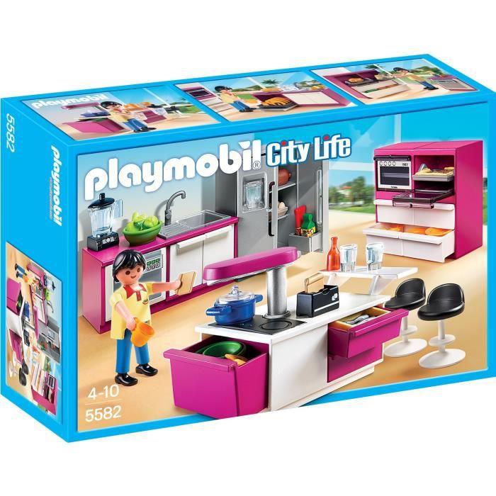Photo de playmobil-5582-cuisine-avec-ilot