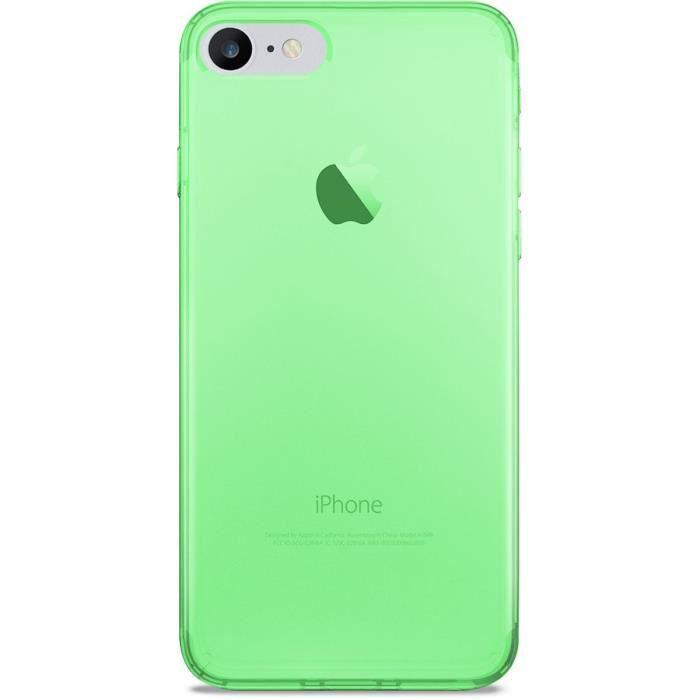 Coque iPhone 7 4.7 Vert Fluo ultra Slim ''0.3 nude