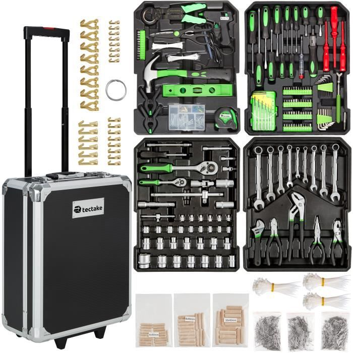 Mallette outils trolley boite outils valise outils - Malette outils complete ...
