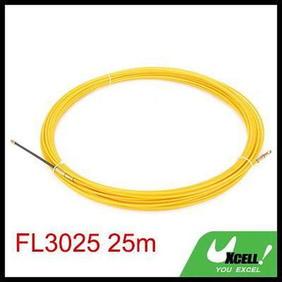 Ruban fibre verre diam/ètre 0.24in 25M sourcing map 82 Ft 6mm enfileur fils /électrique