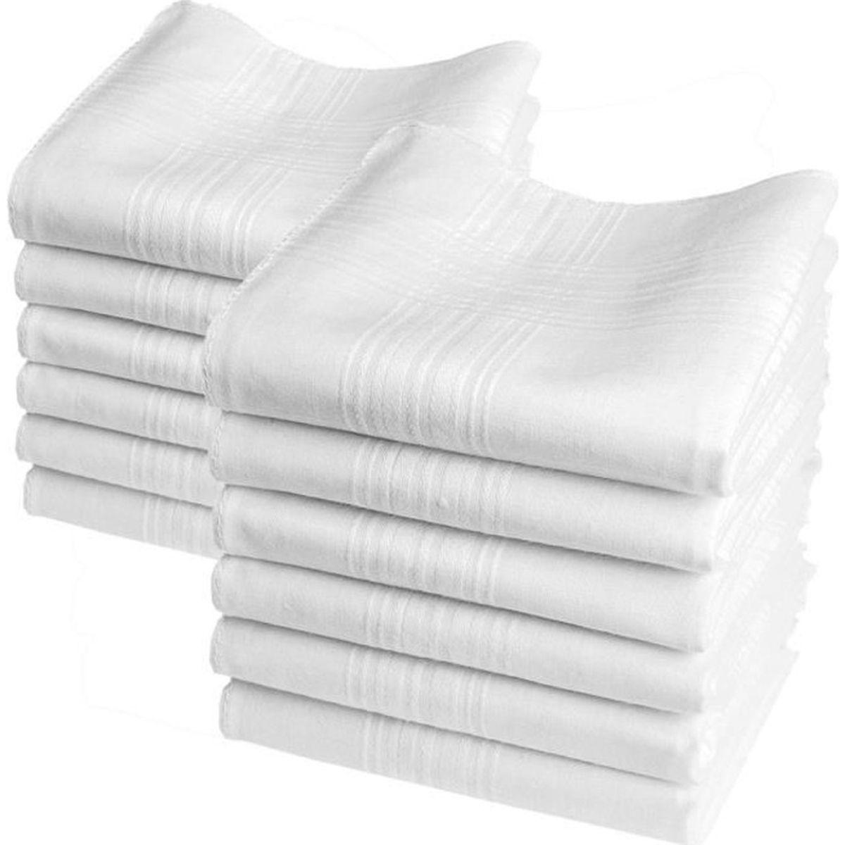 10pcs À faire soi-même Solide Mouchoirs 100/% Coton Carré Super Doux Lavable Hanky