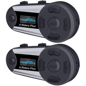 INTERCOM MOTO Fodsports Intercom Moto Bluetooth, V6 Plus Casques