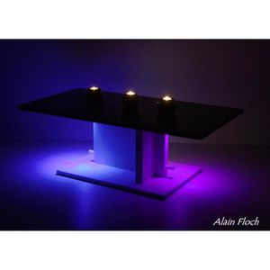 table basse lumineuse led achat vente pas cher. Black Bedroom Furniture Sets. Home Design Ideas