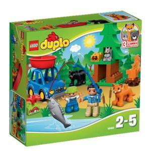 ASSEMBLAGE CONSTRUCTION LEGO® DUPLO 10583 La Partie de Pêche en Forêt