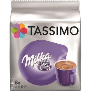 CAFÉ Tassimo Milka Chocolat en dosettes x8 -240g