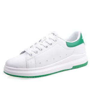 BASKET Baskets Femme Chaussures Casual- Cuir PU - Blanc e