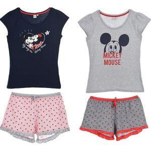 PYJAMA MICKEY Lot de 2 Pyjacourts Short et T-shirt  Femme
