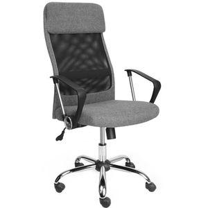 CHAISE DE BUREAU Chaise de bureau en maille et tissu coloris noir-g