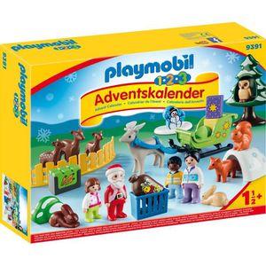 UNIVERS MINIATURE Playmobil Calendrier Avent 1.2.3 'Père Noël Animau